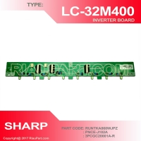 SHARP LC-32M400M LC-32M407I INVERTER PART CODE RUNTKA860WJPZ PNCC-J102A 3PCGC20001A-R