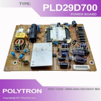 POLYTRON PLD29D700 PLD29T700 POWER SUPPLY PART CODE HBBX-058A DN21BO27 M02