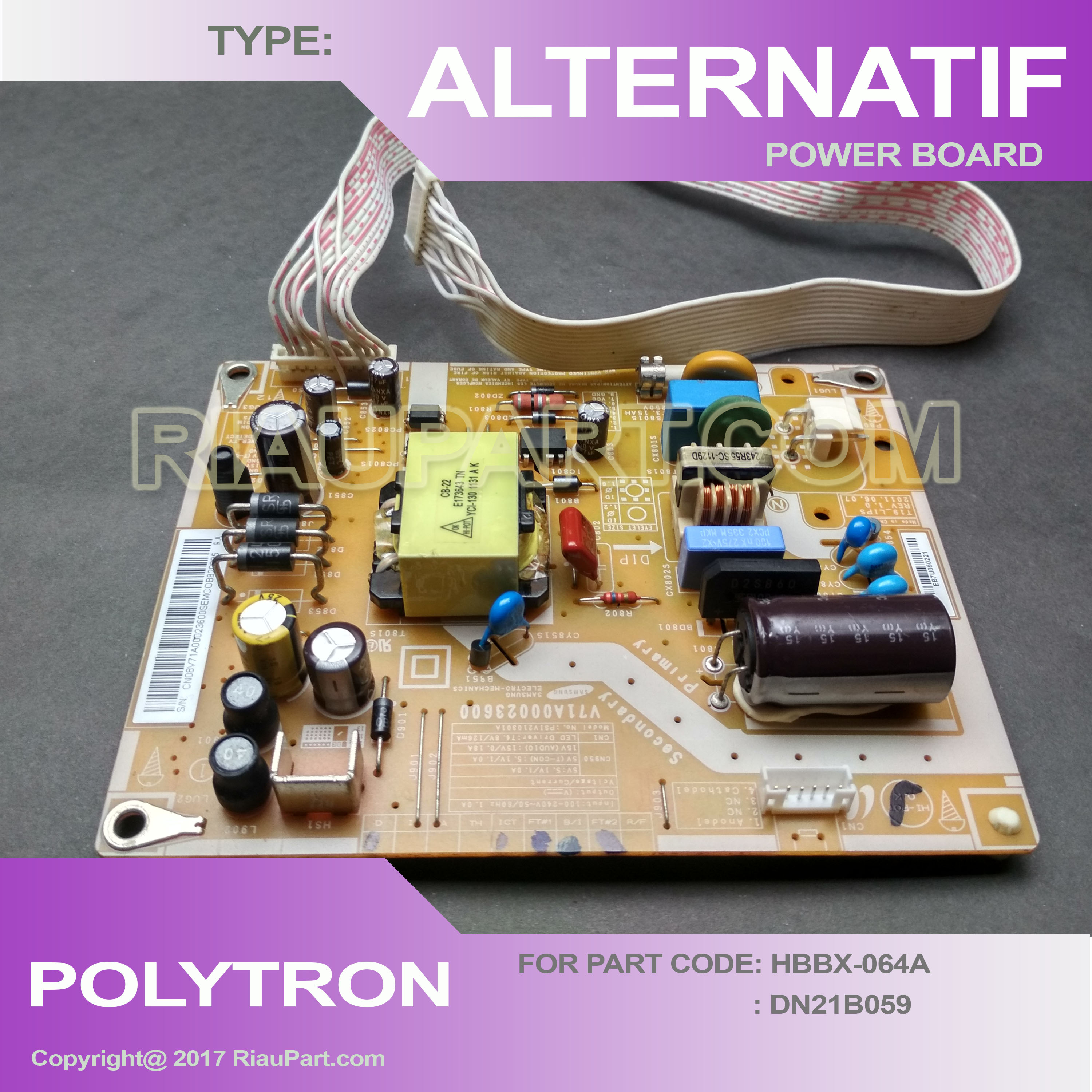 Power Supply Alternatif Polytron LED 20 - 24 inch Awet tinggal colok