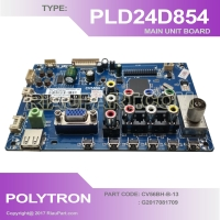 MESIN TV - MAINBOARD TV LED POLYTRON PLD24D854 - CV56BH-B-13