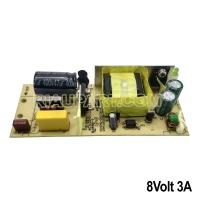Mesin Adaptor Swicting 8 volt 3 Amper murni bagus P113mm L44mm T25mm
