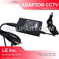 ADAPTOR CCTV 12V 1.25A ORIGINAL LEADER ELECTRONICS INC BAGUS