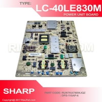 PSU - REGULATOR TV - POWER SUPPLY TV SHARP LC-40LE830M  RUNTKA786WJQZ DPS-110AP-6