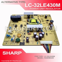 POWER SUPPLY PSU ALTERNATIF SHARP LC-32LE430 LC32LE430 AWET BAGUS