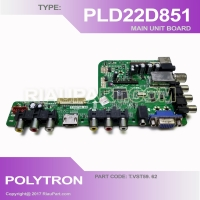 MESIN TV - MAINBOARD MOBO TV LED POLYTRON PLD22D851 T.VST59. 62