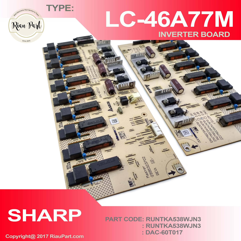 INVERTER TV SHARP LC-46A77M 46A77 PART CODE DAC-60T017